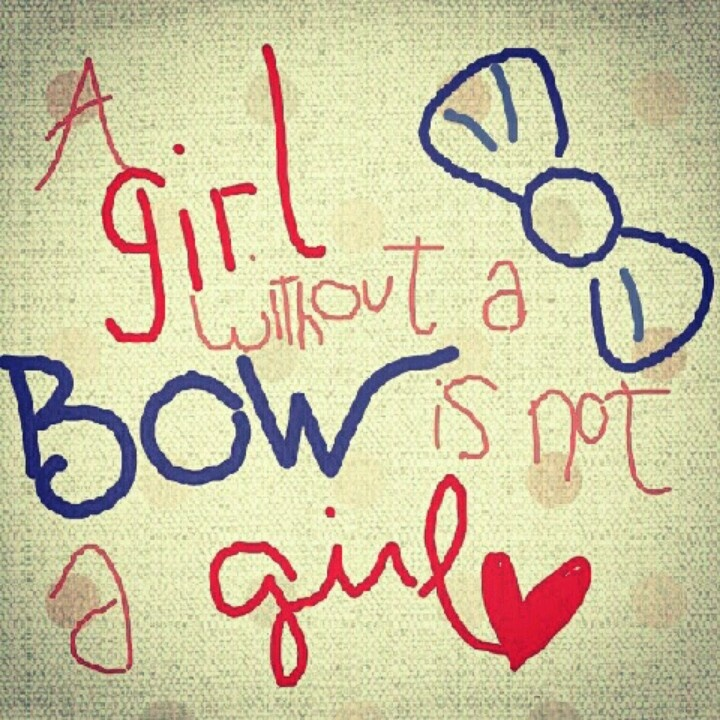 bow #girl #design #quote