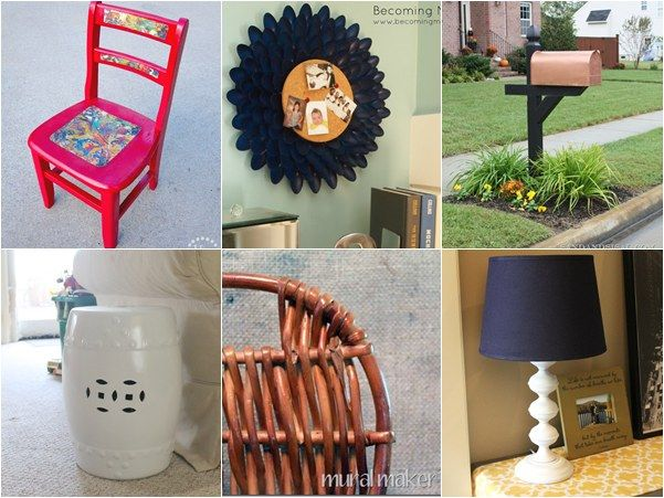 diy spray paint projects for home decor spray paint