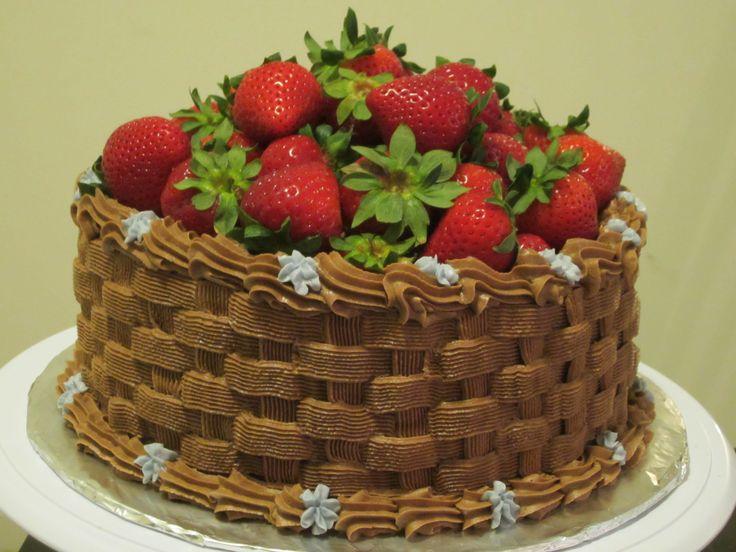 Strawberry Basket weave cake! | Cakes | Pinterest