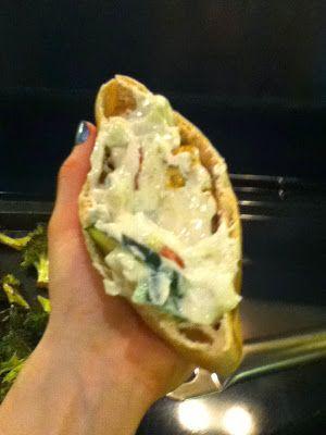Skinny Falafel Pitas with Tzatziki-inspired sauce