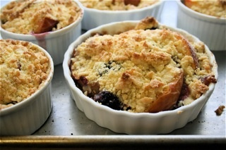 Nectarine and Blackberry Crisp
