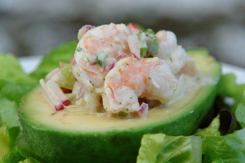 Shrimp stuffed avocado   Salzig   Pinterest