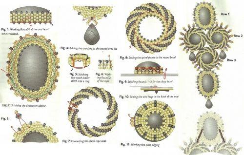 Схемы для кабошонов из бисера