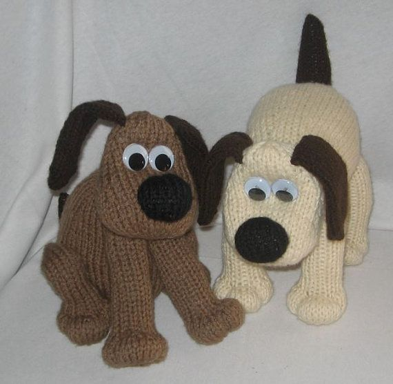 Toy Dog - KNITTING PATTERN, downloadable file