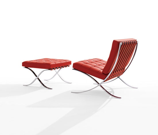 Barcelona chair was designed in 1929 by architect ludwig mies van der
