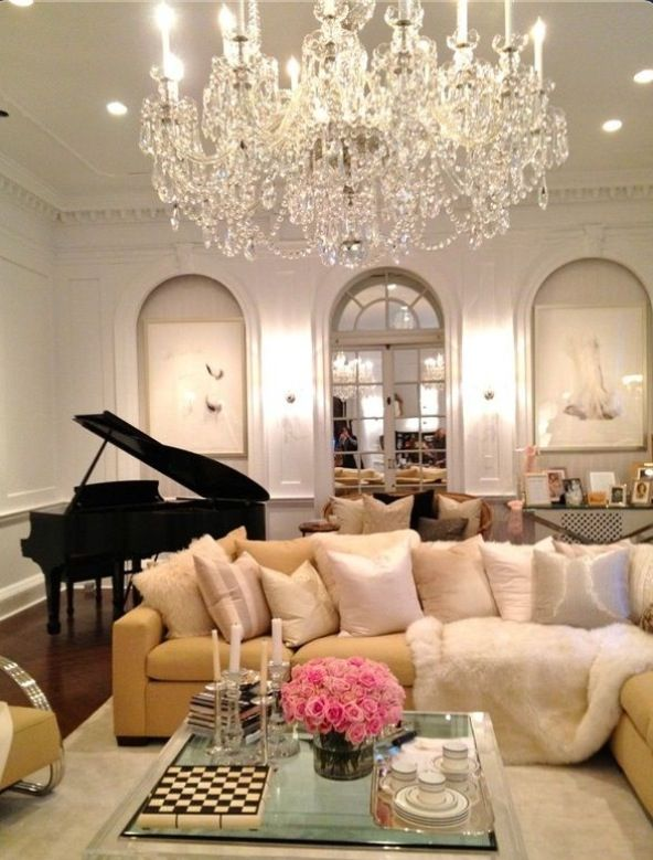 Pretty Sitting Room Living Room With Baby Grand Piano