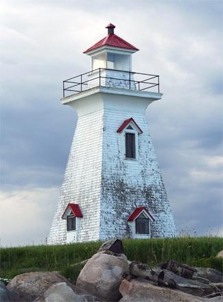 Grant Beach Range Rear Light, Oak Point, New Brunswick, Canada