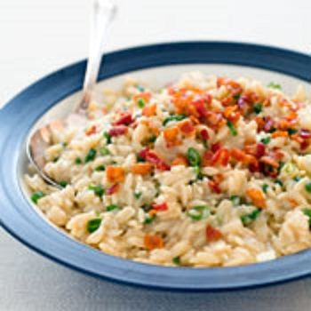 Creamy Orzo with Peas and Parmesan | Meals | Pinterest
