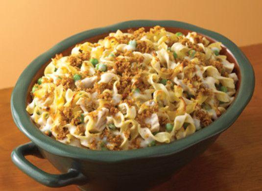 Campbell's Turkey Noodle Casserole (use cream of mushroom/celery soup ...
