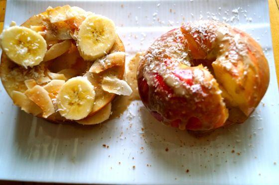 "Gastrawnomica's Raw Apple ""Doughnuts"" 1 big apple, sliced 3/4 ..."