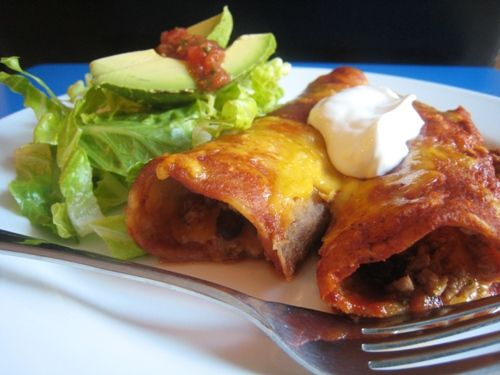 Turkey and Black Bean Enchiladas-they look good, and simple. And you ...