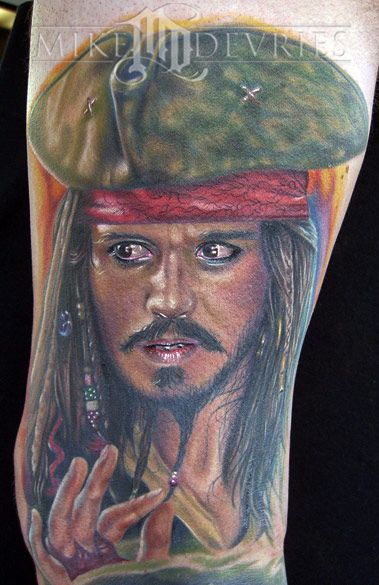 Captain jack sparrow tattoo blank canvas pinterest for Captain jack sparrow tattoo