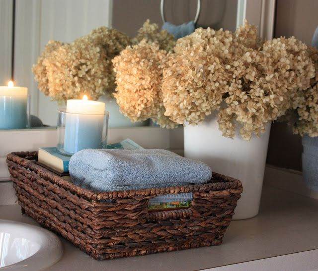 Bathroom counter basket