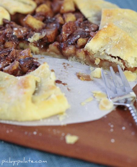 Chocolate and Caramel Apple Pie Galette (so easy and delish to make)