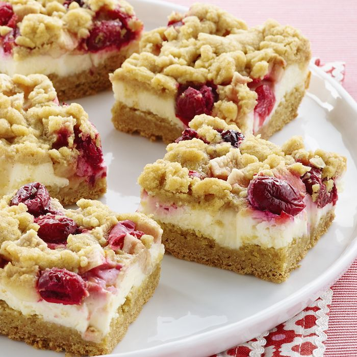 Apple-Cranberry Crumb Bars - these look fantastic! Here's the link ...