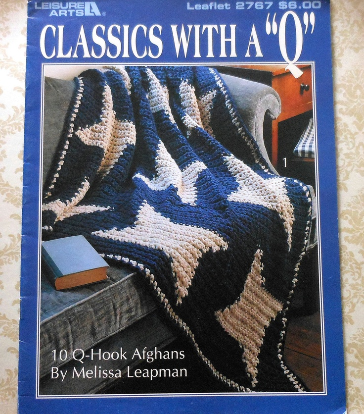 Crochet Patterns Q Hook : Hook Afghan Crochet Patterns Booklet 10 Q-Hook Afghans to Crochet