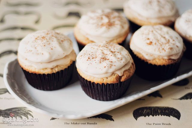 Cinnamon Roll Cupcakes with coffee icing