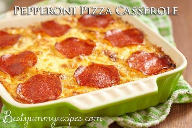 Pepperoni Pizza Casserole | Casseroles | Pinterest