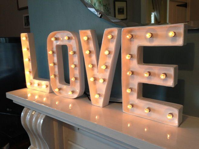 Love - Marquee Letter Lights