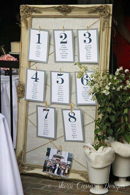 Table Assignment Wedding Pinterest