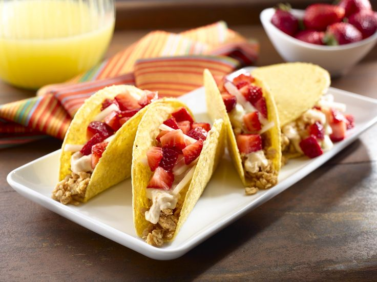 Fruit and Nutty Tacos - In medium bowl, combine peanut butter ...