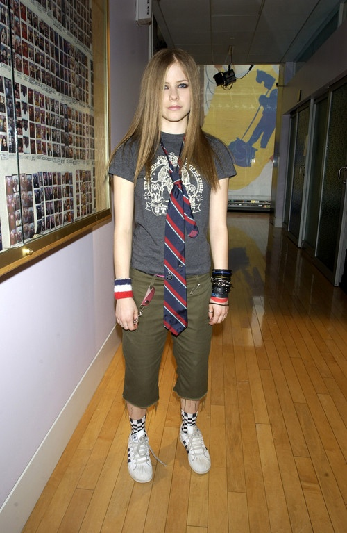 an image of avril lavigne wearing a tie personal choice