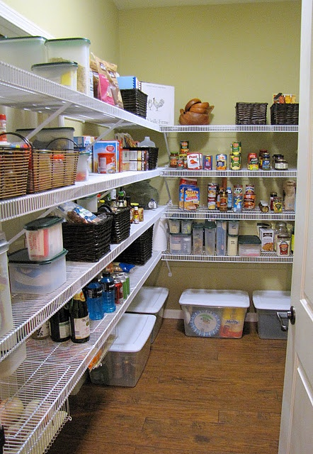 Organizing a walk in pantry organizing pinterest for Large walk in pantry