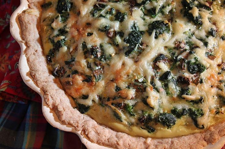 Spinach Mushroom Quiche | Yummy In the Tummy | Pinterest