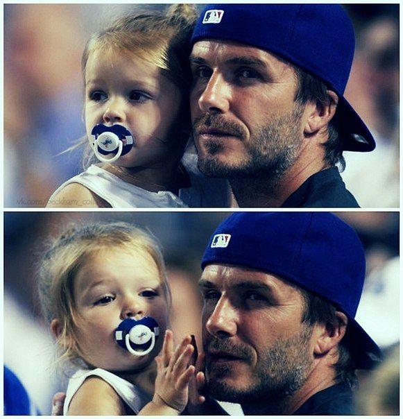 David Beckham and his little girl Harper | becks :* | Pinterest David Beckham