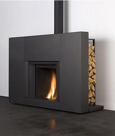 poele style cheminee  Maisons - Architecture  Pinterest