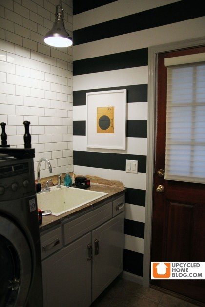 I Finally Got Me Some Stripes On A Wall My Laundry Room