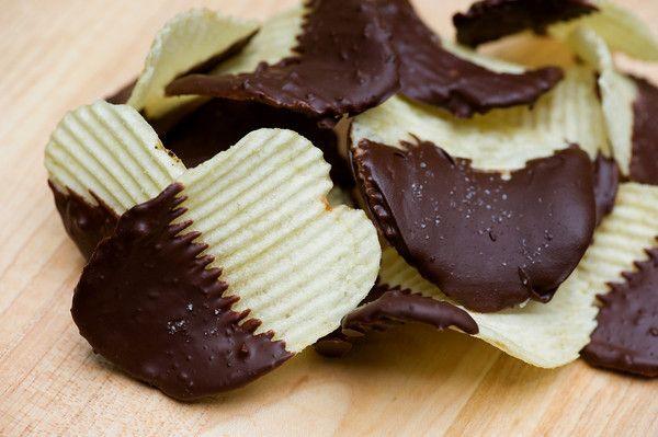 Chocolate-Dipped Potato Chips   Recipe