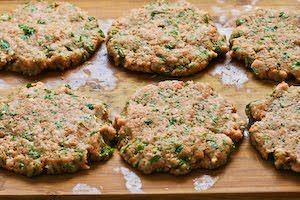 ... Recipe for Grilled Middle Eastern Turkey Burgers with Yogurt Sauce