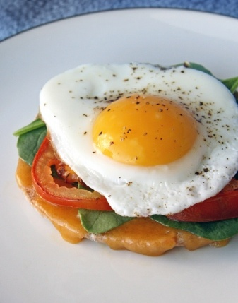 Open-Face Egg Sandwich | Food | Pinterest