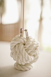 Nautical knot centerpeice details #boat #sea #wedding #DIY