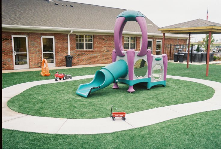 Backyard Playground Ground Cover :  can use #DURAPlay or #EnvyLawn turf as their #safety ground cover