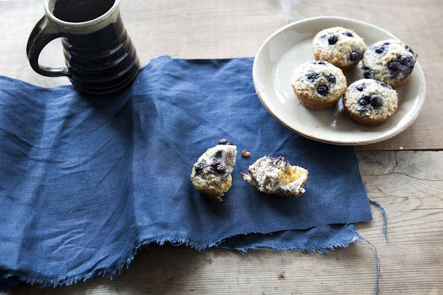 Blueberry Coconut Muffins #recipe http://simplybreakfast.blogspot.com ...