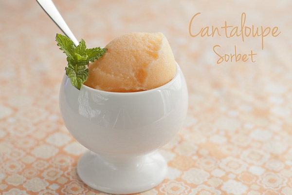 Cantaloupe Sorbet. So glad I found this! I made this blogger's recipe ...