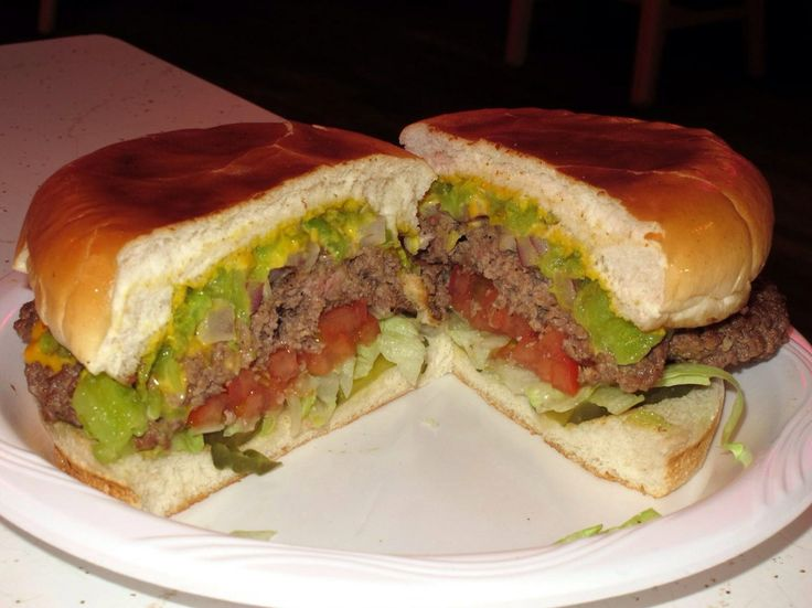 Green Chile Cheeseburger | FRY BREAD NATION | Pinterest