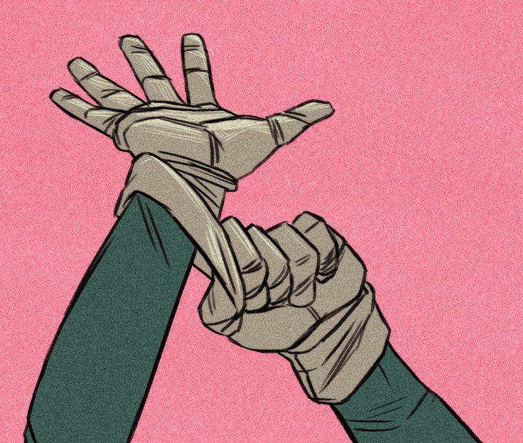 Dibujar manos dinámicas