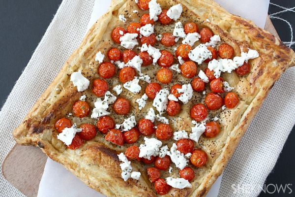 Tomato and goat cheese tart recipe | F O O D | Pinterest