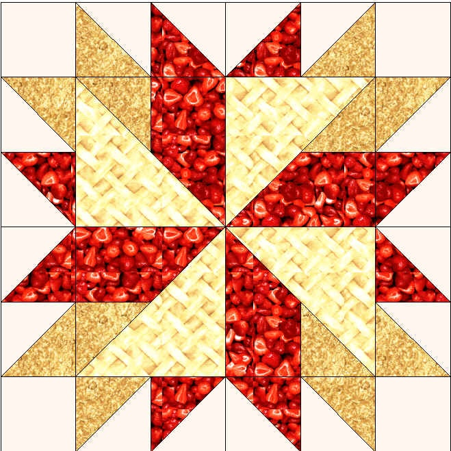 Pie Ala Mode table topper, free pattern Beautiful Quilting Pinter?