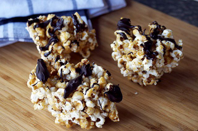 ... for a party # popcorn # popcorn balls # salted caramel # chocolate