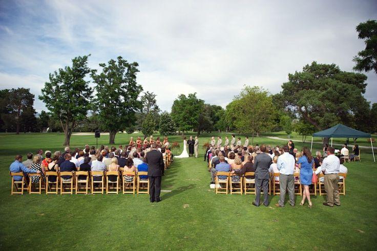 Simple Outdoor Wedding Set Up