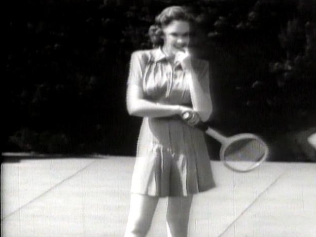 judy getting exercise through tennis. | Judy Garland | Pinterest