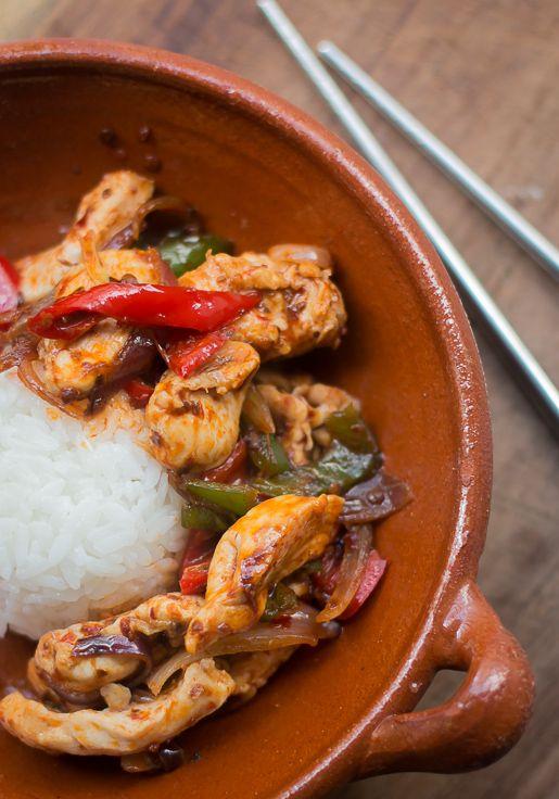 Thai Stir-Fried Chicken with Chile Jam | David Lebovitz #recipe