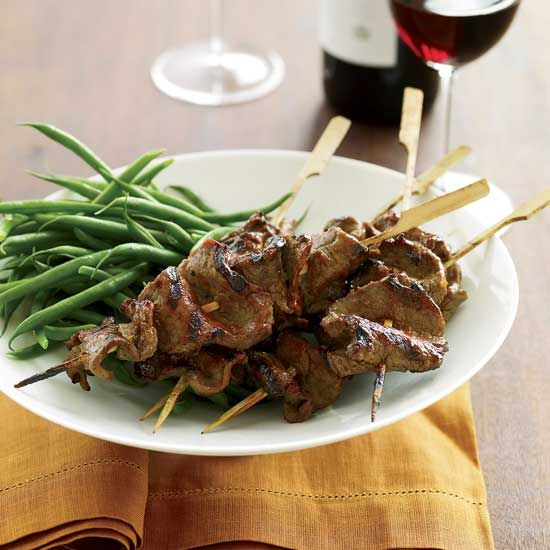 Grilled Beef-Tenderloin Skewers with Red-Miso Glaze // More Fabulous ...