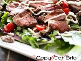 Copy Cat Brio Steak Salad with Creamy Horseradish Dressing on chef-in ...