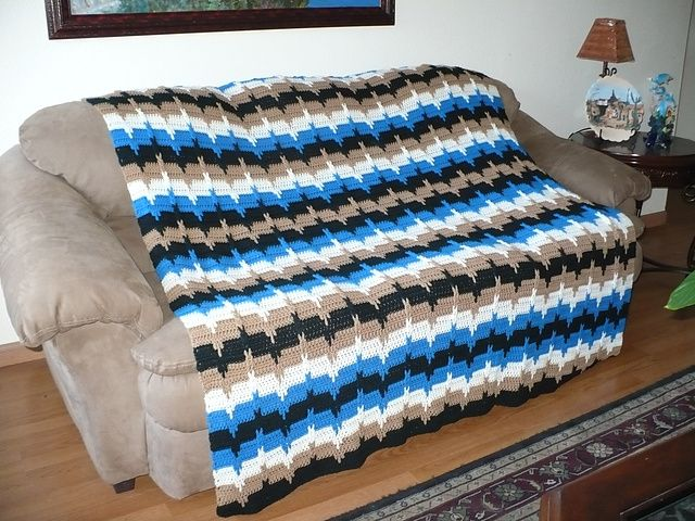 Ravelry: Jacobs Ladder Afghan pattern by Bevs Country Cottage