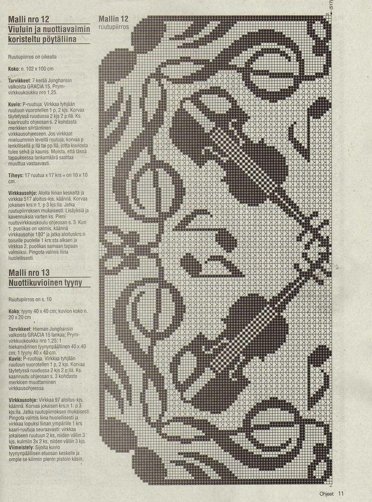 amazing music crochet filet Crochet Pinterest